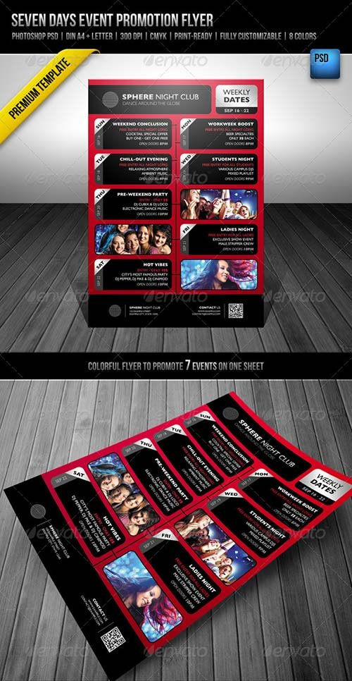 GraphicRiver Seven Days Event Promotion Flyer