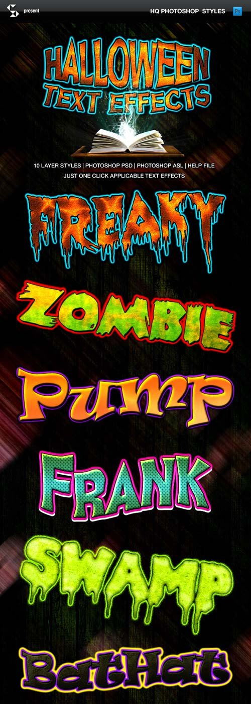GraphicRiver Halloween Text Effects - Cartoon Horror Styles