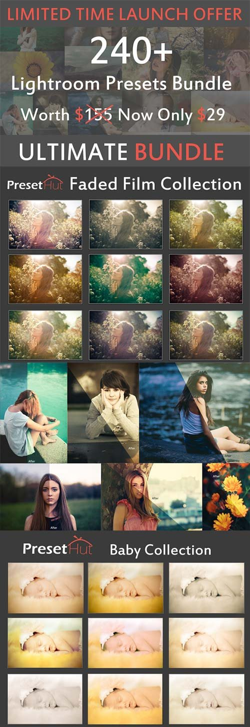 CreativeMarket 240+ Premium Lightroom Presets