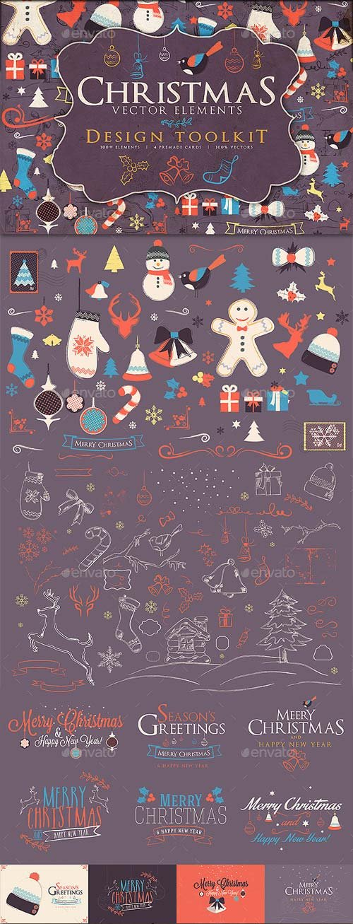 GraphicRiver Christmas Elements Toolkit