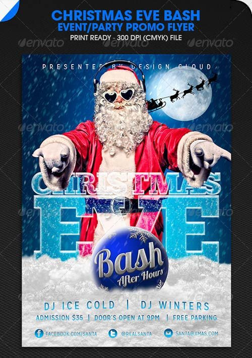 GraphicRiver Christmas Eve Bash Party Event Flyer
