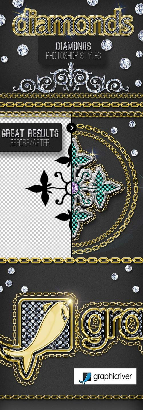 GraphicRiver Bling Bling Diamond Photoshop Style Creator