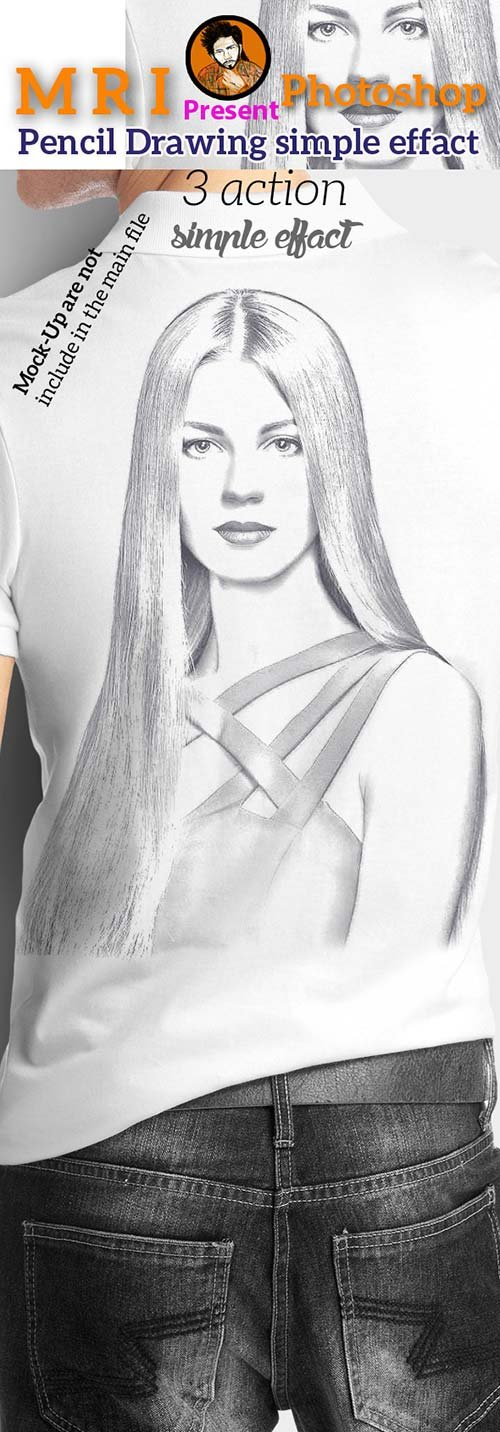 GraphicRiver Pencil Drawing Simple Effect