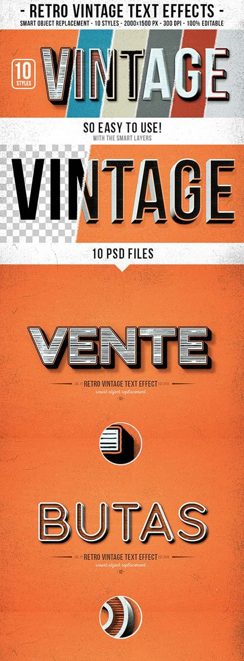 GraphicRiver Retro Vintage Text Effects 10192413