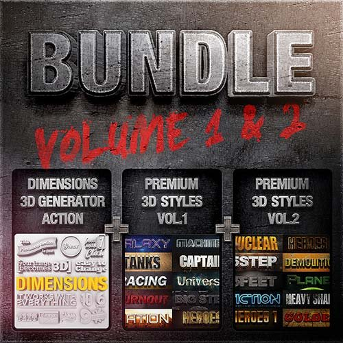 GraphicRiver Bundle - Dimensions Premium Styles Vol. 1 & 2