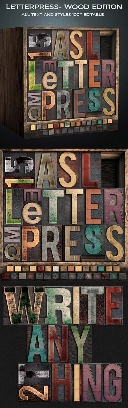 GraphicRiver Letterpress - Wood Edition