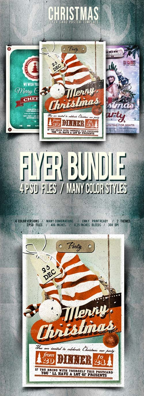 GraphicRiver Christmas Flyer/Poster Bundle VOL.1-3-1