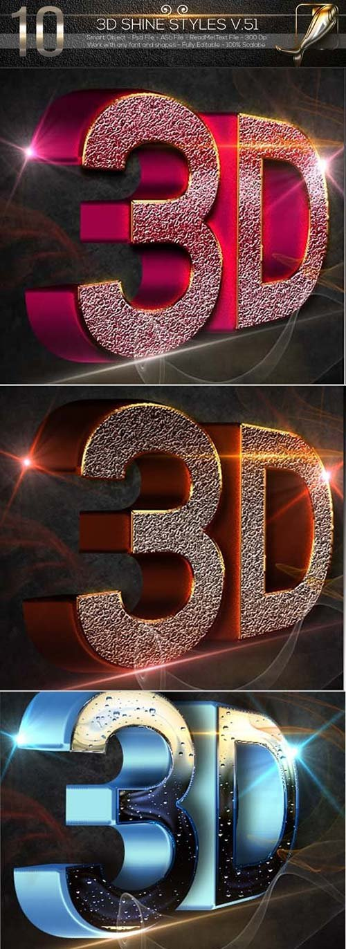 GraphicRiver 10 3D Text Style V.51