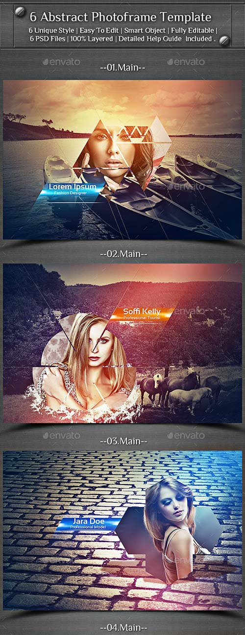 GraphicRiver 6 Abstract Photoframe Template