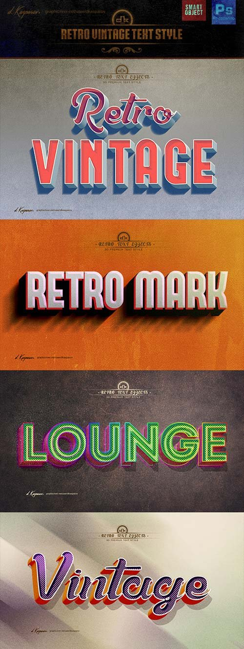 GraphicRiver Retro Vintage Text Style Effects