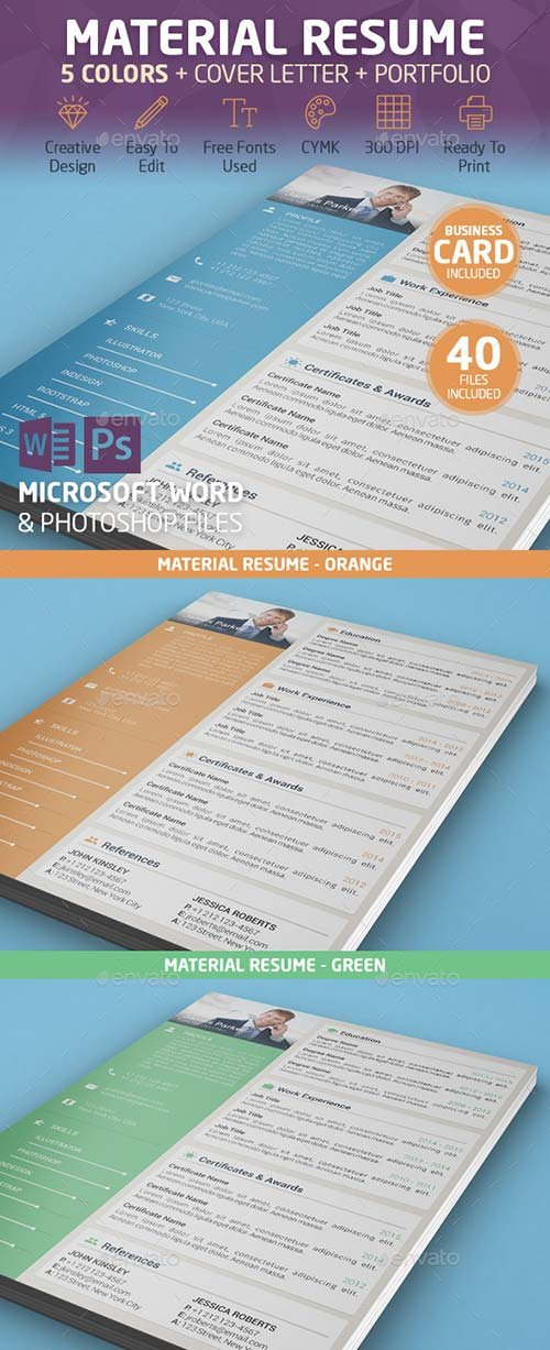 GraphicRiver Material Resume