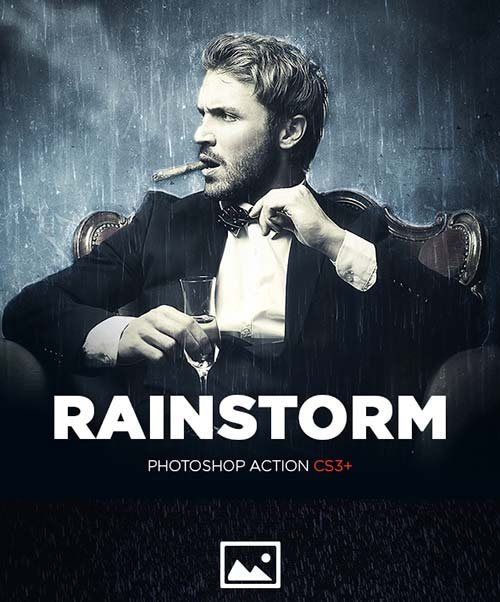 GraphicRiver Rainstorm Photoshop Action CS3
