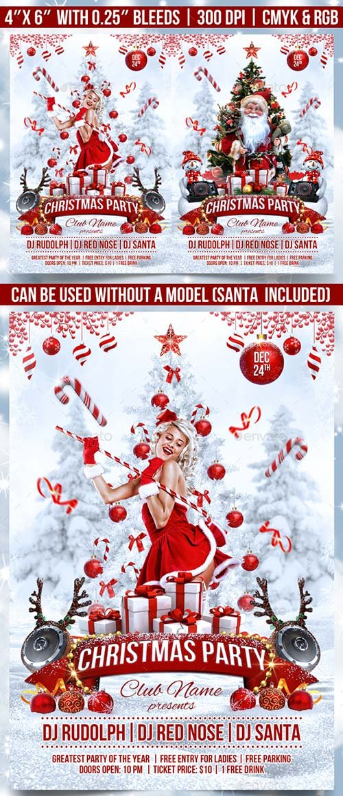 GraphicRiver Christmas Party Flyer 18616879