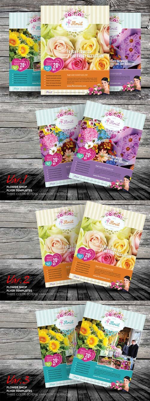 CreativeMarket Flower Shop Flyer Templates