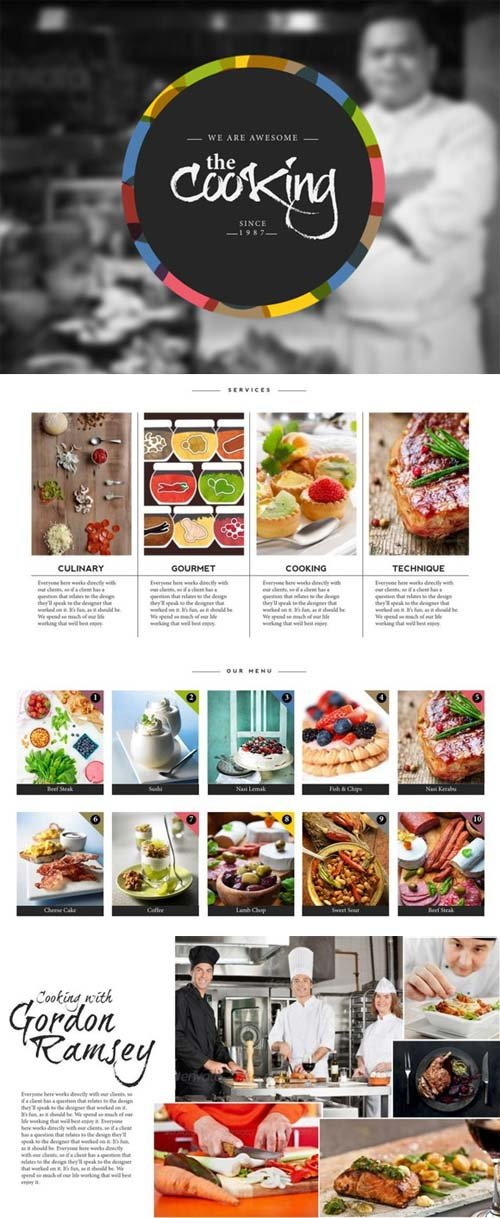 CreativeMarket Cooking Master Keynote Template