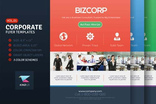 CreativeMarket Corporate Flyer Templates Vol.01