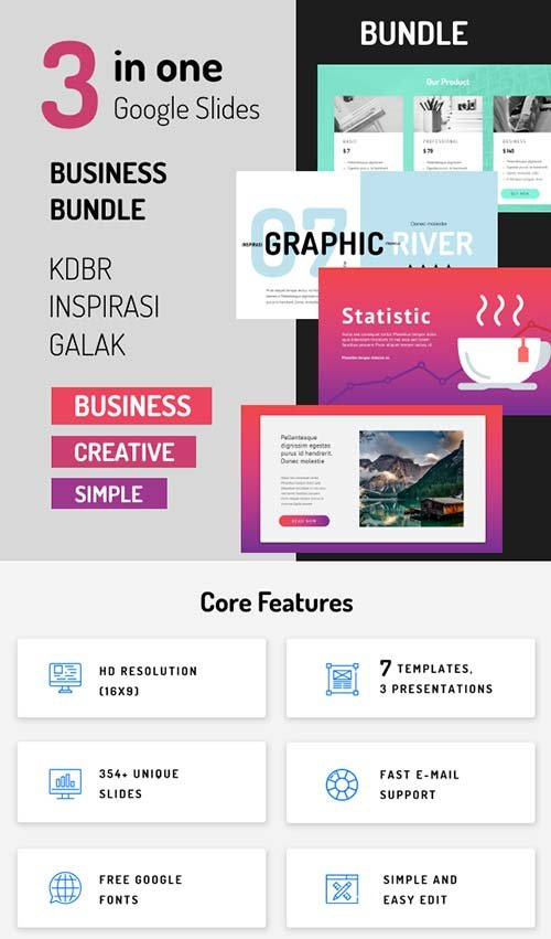 GraphicRiver Bundle - Google Slides 3 in 1