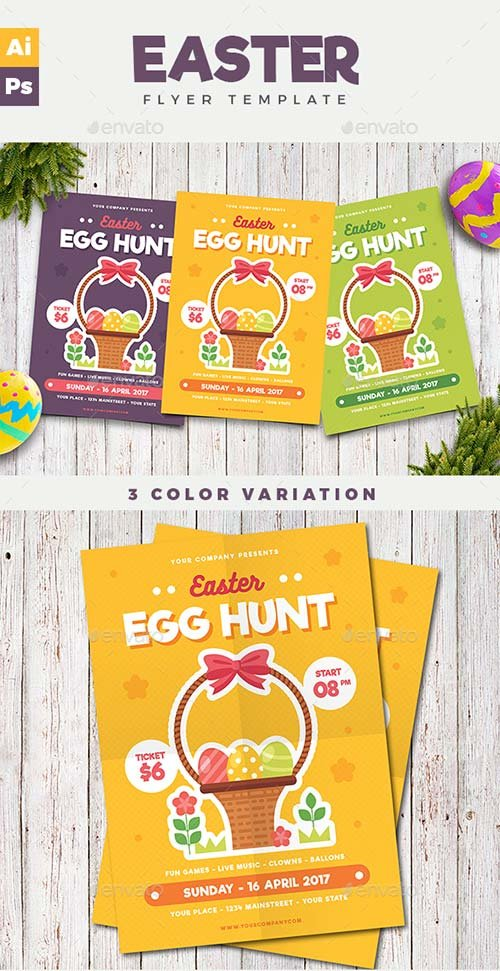GraphicRiver Easter Flyer 19671047