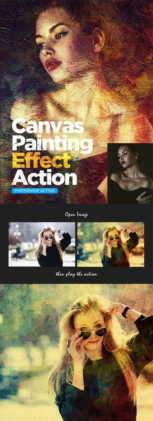 GraphicRiver Canvas Painting Effect Action