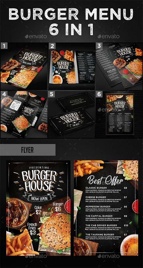 GraphicRiver Burger Menu Set