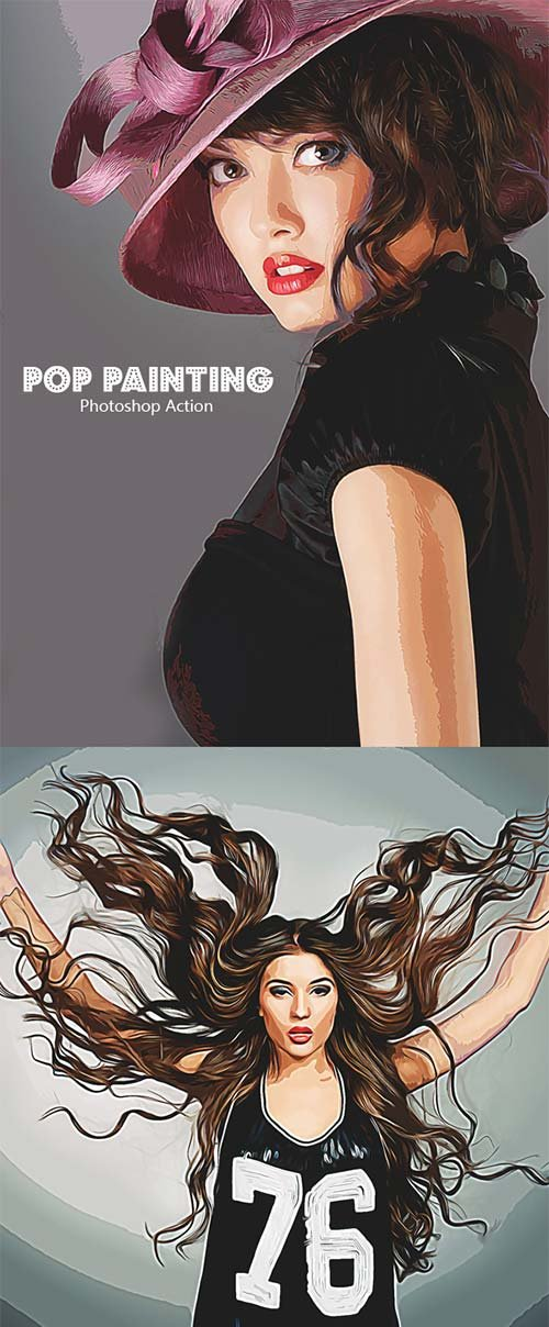 GraphicRiver Pop Painting - Photoshop Action