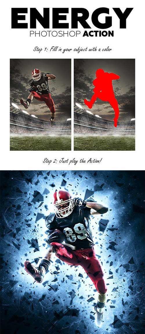 GraphicRiver Energy Photoshop Action 21212006