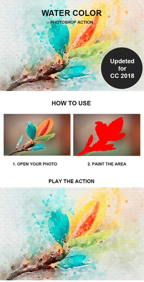GraphicRiver Water Color Photoshop Action 21211185