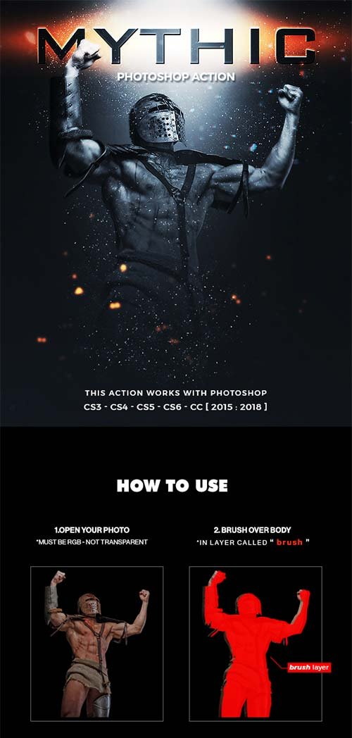 GraphicRiver Mythic Photoshop Action